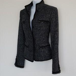 CHANELish tweed fitted jacket XS
